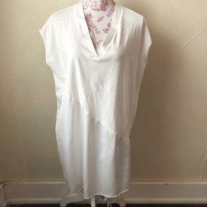 Zara Basic Sleeveless Asymmetrical Tunic S White